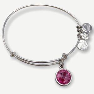 Alex & Ani Rose Crystal Birthstone Bangle Bracelet
